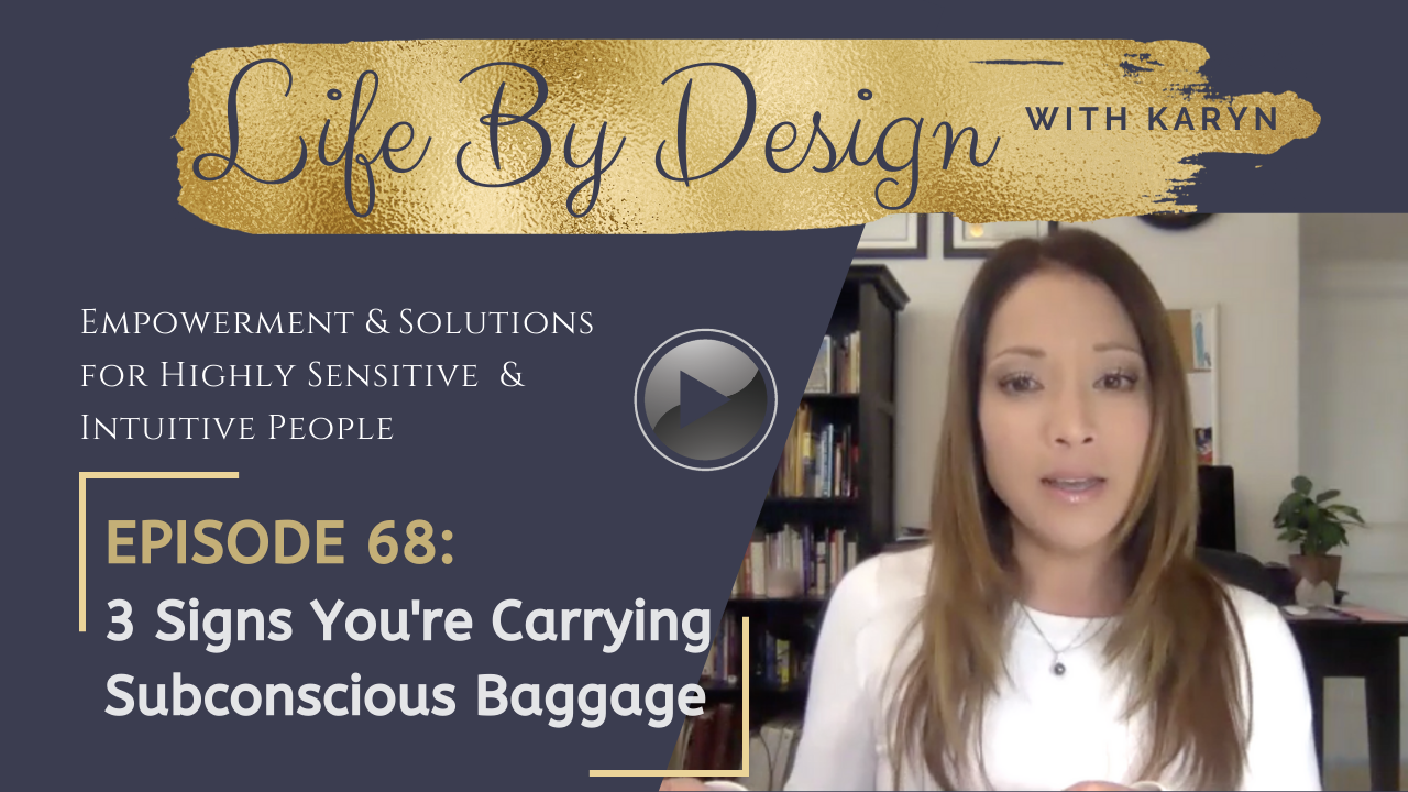 3 signs you're carrying subconscious baggage